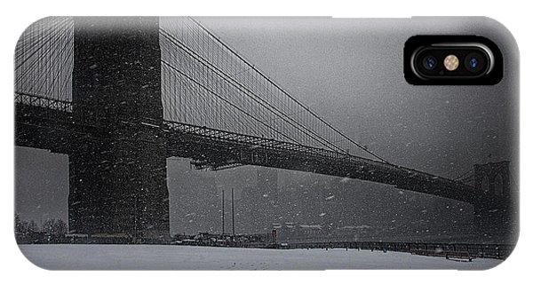 Brooklyn Bridge Blizzard IPhone Case