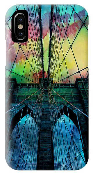 Famous Artist iPhone Case - Psychedelic Skies by Az Jackson