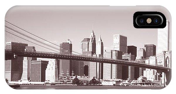 Brooklyn Bridge, Hudson River, Nyc, New IPhone Case