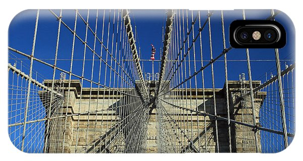 Brooklyn Bridge Tower IPhone Case