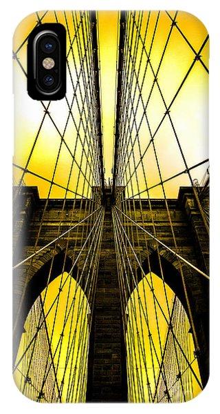 Brooklyn Bridge Yellow IPhone Case