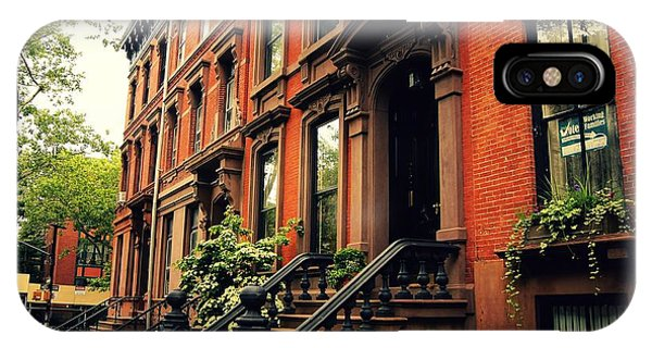 Brownstone iPhone Case - Brooklyn Brownstone - New York City by Vivienne Gucwa