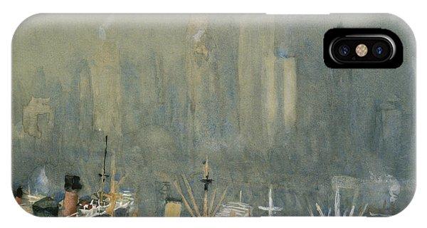 Manhattan Skyline iPhone Case - Brooklyn Harbor Circa 1921  by Aged Pixel