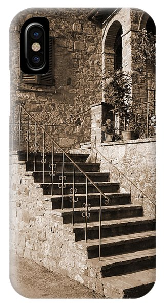 Broom On The Stairs IPhone Case