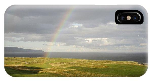 Brora Golf Course Rainbow IPhone Case