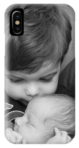 IPhone Case featuring the photograph Brotherly Love by Kelly Hazel