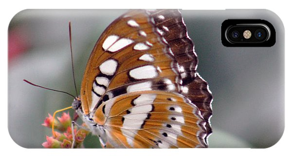 Brown And White Brushstrokes IPhone Case