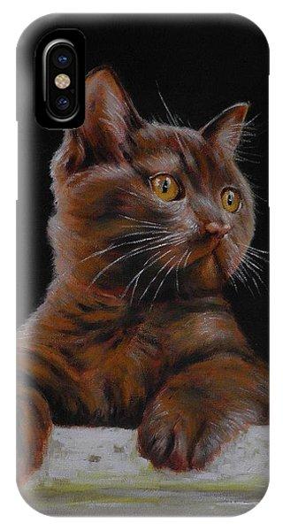 Brown Cat IPhone Case
