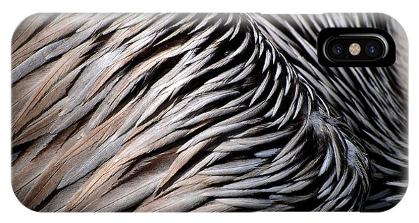 Brown Pelican Feathers IPhone Case