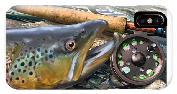 Wet iPhone Case - Brown Trout Sunset by Craig Tinder