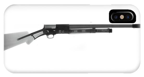 Calico M100 iPhone Case - Browning Fn A5 Shotgun X-ray Photograph by Ray Gunz