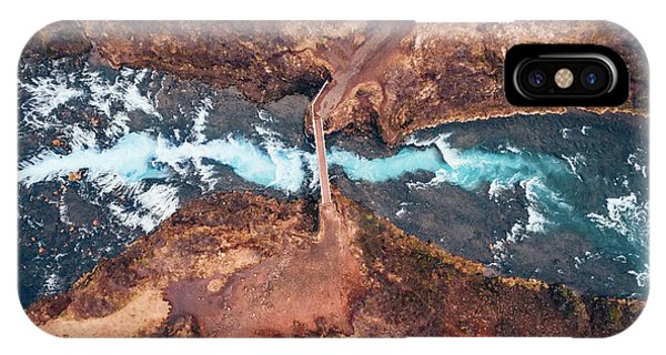 River Flow iPhone Case - Bruarfoss by Antonio Carrillo Lopez
