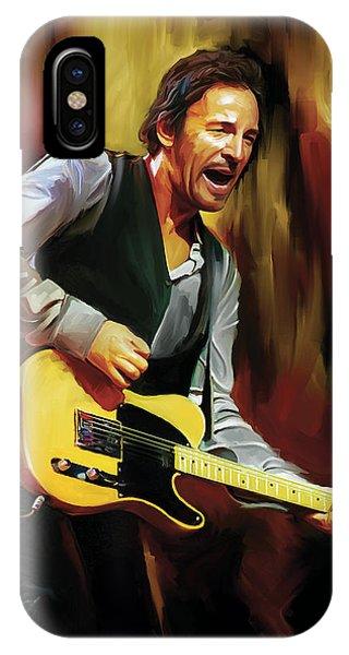Bruce Springsteen Artwork IPhone Case