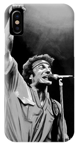 Fire Ball iPhone Case - Bruce Springsteen by Meijering Manupix