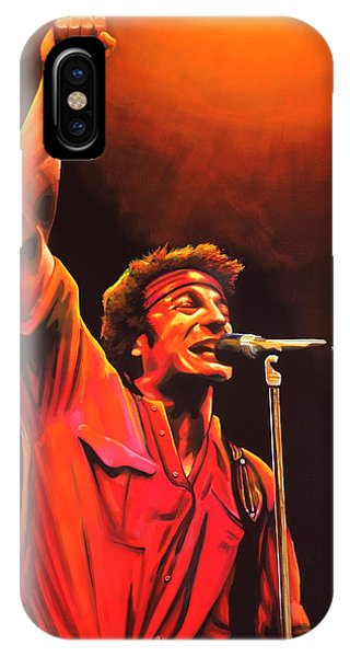 Fire Ball iPhone Case - Bruce Springsteen Painting by Paul Meijering