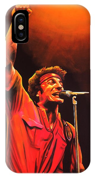 Rock And Roll iPhone Case - Bruce Springsteen Painting by Paul Meijering