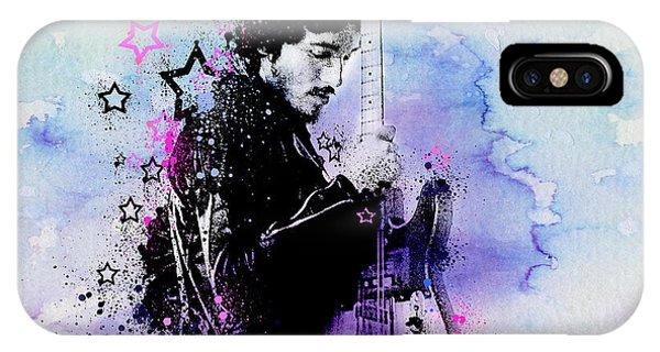 Bruce Springsteen Splats And Guitar 2 IPhone Case