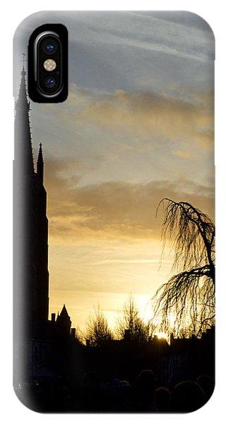 Brugges Sunset Phone Case by Stephen Richards