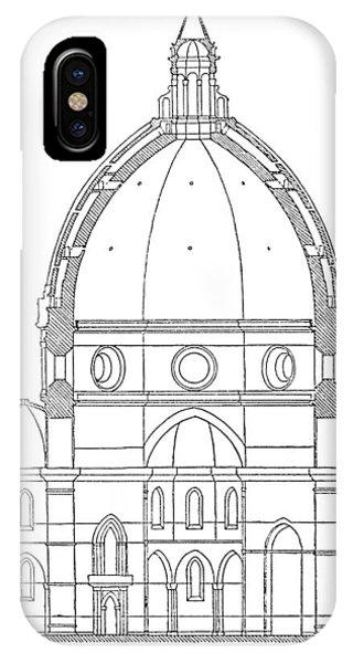 Brunelleschi: Dome Plan IPhone Case