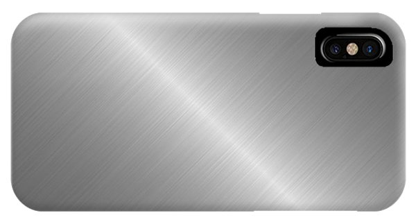 Brushed Steel Metal Texture 1 Phone Case by REDlightIMAGE