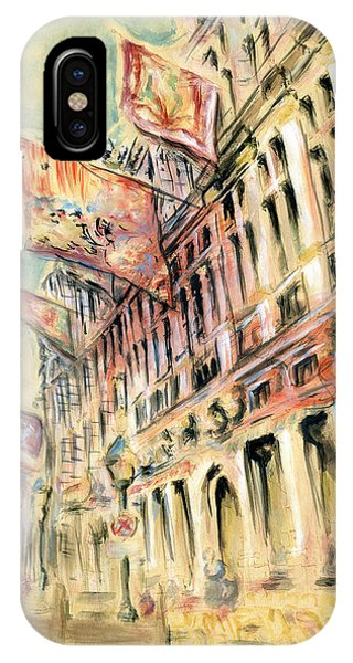 Brussels Grand Place - Watercolor IPhone Case