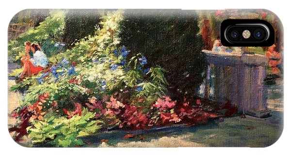 Bryant Park - Morning Light In The Garden IPhone Case