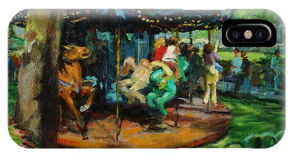 Bryant Park - The Carousel IPhone Case