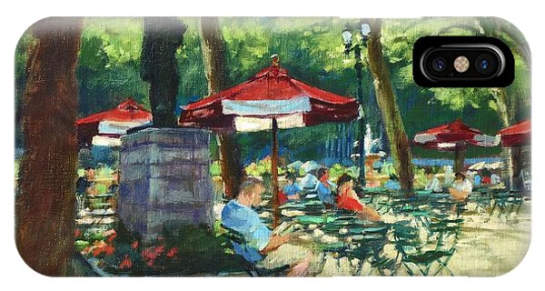 Bryant Park - The Reading Room IPhone Case