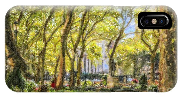 Bryant Park October Morning IPhone Case