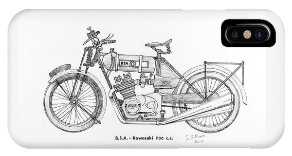 B.s.a.-kawasaki IPhone Case