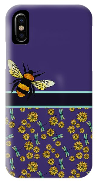 Violet iPhone Case - Bubblebee And Friends by Jenny Armitage