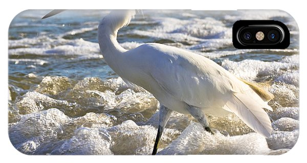 Bubbles Around Snowy Egret IPhone Case