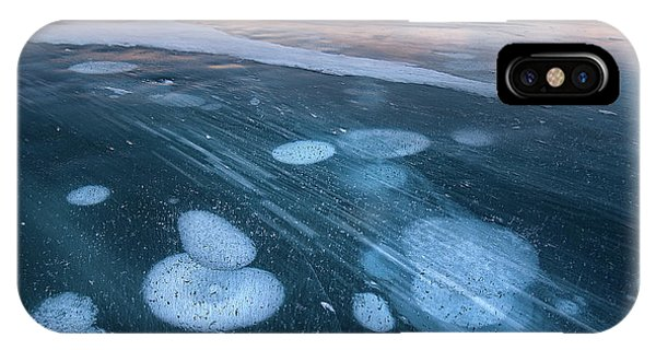 Freeze iPhone Case - Bubbles In The Lake by Shenshen Dou