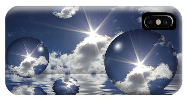 Bubbles In The Sun IPhone Case