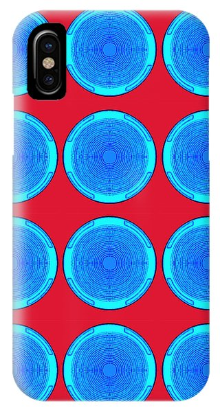 Bubbles Minty Blue Poster IPhone Case