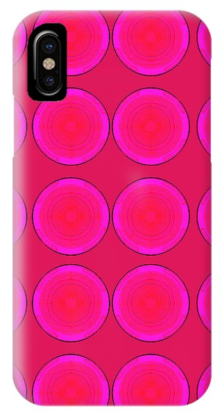 Bubbles Pink Peppemint Warhol  By Robert R IPhone Case