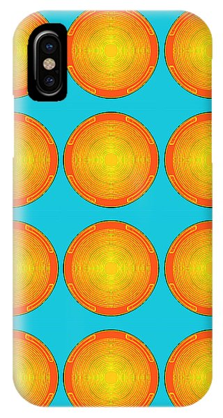 Bubbles Sky Orange Blue Warhol  By Robert R IPhone Case