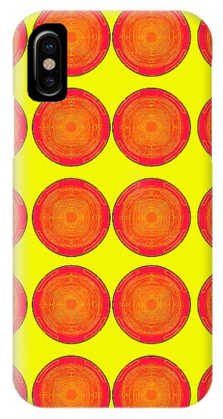 Bubbles Sunny Oranges Warhol  By Robert R IPhone Case