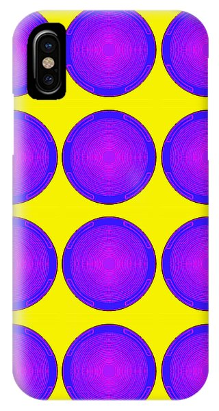 Bubbles Sunny Purple Blue Warhol  By Robert R IPhone Case