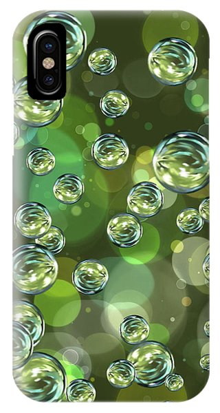 Abstract Digital iPhone Case - Bubbles by Veronica Minozzi