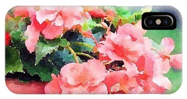 Impressionism iPhone Case - Bucket O Begonias by Anna Porter
