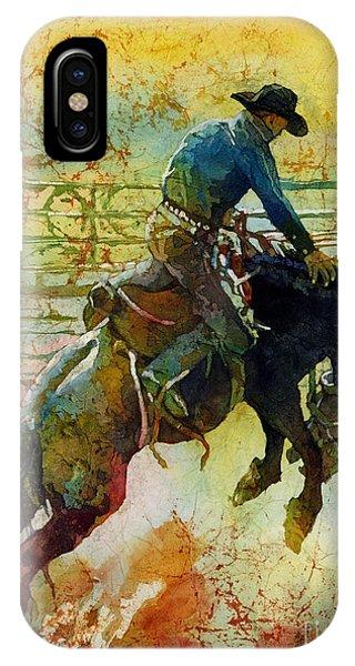 Ranch iPhone Case - Bucking Rhythm by Hailey E Herrera