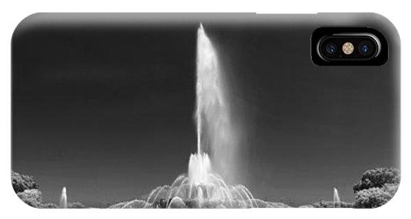 Buckingham Fountain Panorama Black And White IPhone Case