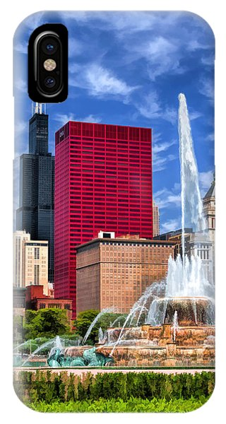 Buckingham Fountain Sears Tower IPhone Case