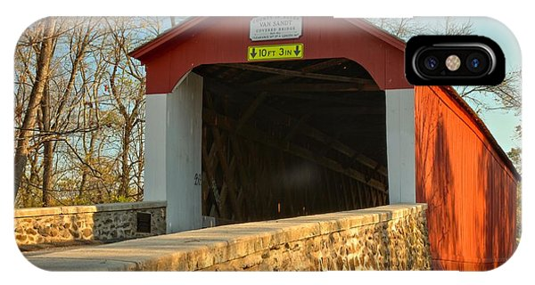 Bucks County Van Sant Covered Bridge IPhone Case