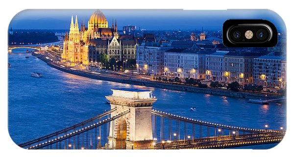 Budapest Cityscape At Night IPhone Case