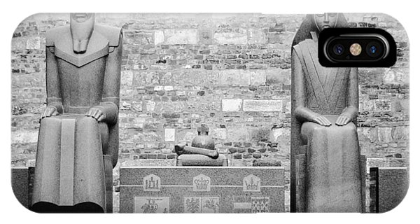 City Scape iPhone Case - Budapest Statues by Bela Dako