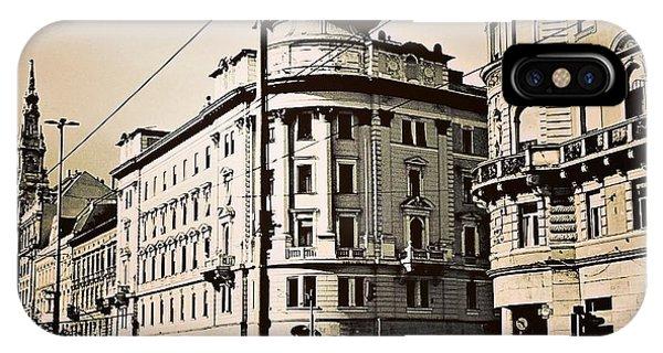 City Scape iPhone Case - Budapest Weekday by Bela Dako