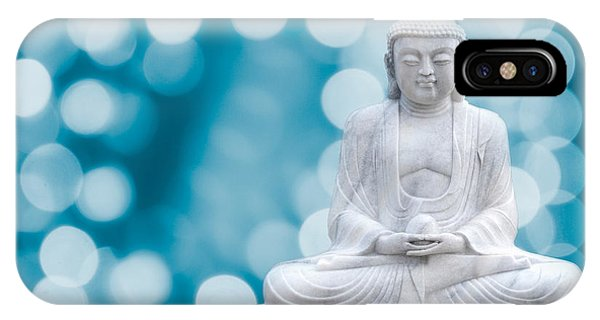 Buddha Enlightenment Blue IPhone Case