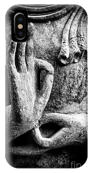 Spirituality iPhone Case - Buddha Hand Mudra by Tim Gainey